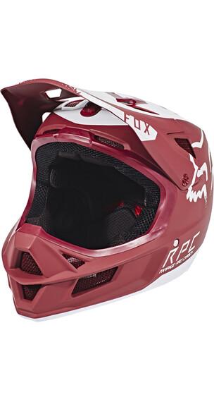 Fox Rampage Pro Carbon Moth Helmet Men Dark Red